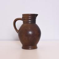 dzban ceramiczny brąz środek szary (1)