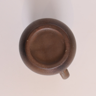 dzban ceramiczny brąz środek szary (6)