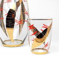 dzban ze szklankami złoty (5)