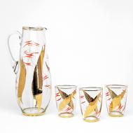 dzban ze szklankami złoty (6)