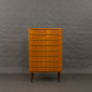 Eight drawers Danish teak dresser-1