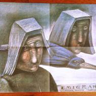 Emigranci Stasys Eidrigevicius57x41