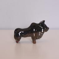 Figurka ceramiczna byk duży, lata 70 (1)