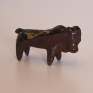 Figurka ceramiczna byk mały, lata 70 (4)