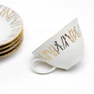 filiżanki złote gałązki espresso (6)