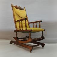 Fotel bujany maleko retro