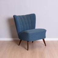 Fotel, Niemcy, lata 60. niebieski klubowy  (1)
