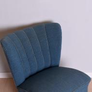 Fotel, Niemcy, lata 60. niebieski klubowy  (2)