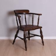 Fotel, początek XX w. krzesło skórzane siedzisko (1)