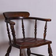 Fotel, początek XX w. krzesło skórzane siedzisko (2)