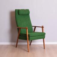 Fotel, Szwecja, lata 60. zielony x2 (1)