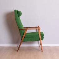 Fotel, Szwecja, lata 60. zielony x2 (6)