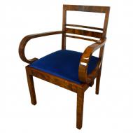 fotel_do_biurka_art_deco_krzeslo_z_podlokietnikami_antyk_stary_stare_politura_orzech_