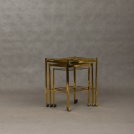French brass nesting tables-1