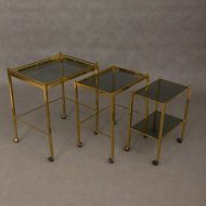 French brass nesting tables-10