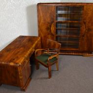 gabinet_mebli_art_deco_stary_antyki_po_renowacji_orzech_politura_biurko_biblioteka_stolik_krzesla_fotel_ (2)