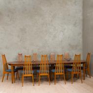 Henning Kjaernulf teak table with 4 leaves-1