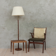 Horse hair teak armchair-1