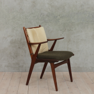 Horse hair teak armchair-4