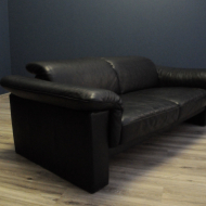 humell sofa skora naturalna czarna  b