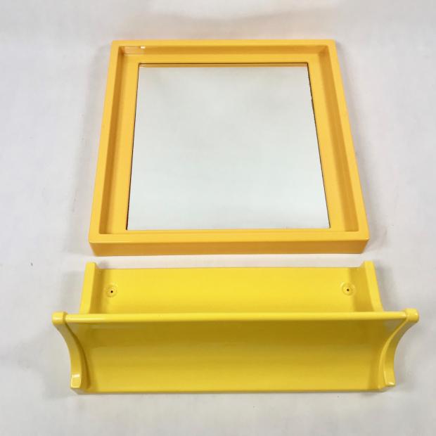 Lustro łazienkowe Z Półką Ikea Lata 70 Patynapl