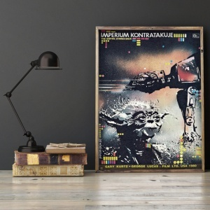 mock up poster on gray wall, 3d illustration
