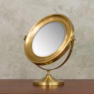 Italian brass vanity mirror from 70s-4