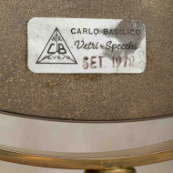 Italian brass vanity mirror from 70s-6