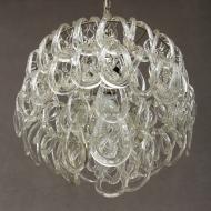 Italian chandelier w. handmade murano glass ribbons-3