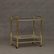 Italian mid century brass cart-1