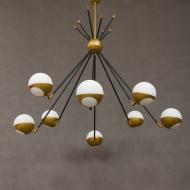 Italian mid century chandelier in Stilnovo style 1955-9