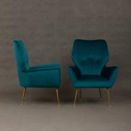 Italian mid-century velvet lounge chairs-3