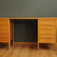 jesionowe biurko z szufladami  3e