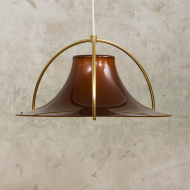 Jo Hammerborg acrylic and brass celling lamp from the 70s.-1