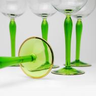 kieliszki zielona nóżka prl (2)