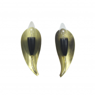 Kinkiet tulip black