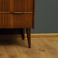 komoda ciemna z szufladami skandynawski design vintage dun13