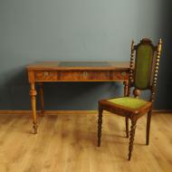 komplet art deco biurko krzeslo