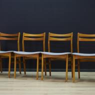 komplet-krzesel-tekowych-tapicerka-szara-mid-cenutry- yes