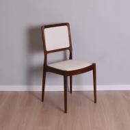 Krzesło Casala Modell, Niemcy, lata 60. beżowa tkanina (1)
