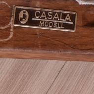 Krzesło Casala Modell, Niemcy, lata 60. beżowa tkanina (11)