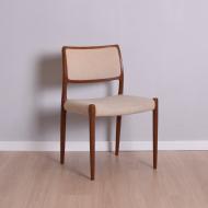 Krzesło model 80 proj. N. O. Møller, Dania, lata 50 (1)