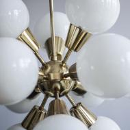 lamp; chandelier; sputnik; space age; gold; brass; żyrandol; mid-century; prl_81