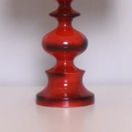 lampa czerwona bezowy abazur (2)