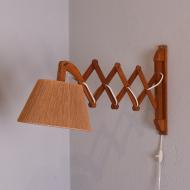 lampa nożycowa, kinkiet tekowy dania piękny  (1)
