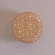 lampa plafon złoty biała metalowa podstawa (1)