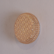 lampa plafon złoty biała metalowa podstawa (4)