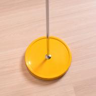 Lampa podłgowa, lata 60. żółta chromowana piękna (8)