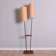 Lampa podłogowa tekowo metalowa x2 (1)