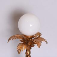 Lampa stołowa w stylu Hollywood Regency, lata 70. złota ładna (4)